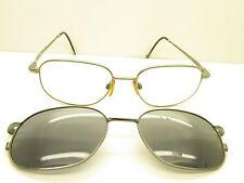 EASY CLIP TITANIUM WITH SUNGLASS CLIP DESIGNER Eyeglasses  FRAMES 53mm TV3 50385