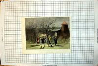 Antique Print Wassailing Apple Trees Hot Cider Devonshire Twelfth Eve 1861 19th