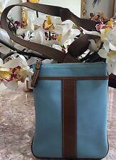 Authentic COACH  Messenger  Cross-body Swingpack Blue Bag EUC
