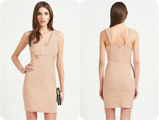 Lipsy Ariana Grande~ Nude Pink Cut Out Textured Mini Dress ~Size 14~ (R14)
