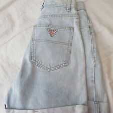 women's Vintage GUESS Georges Marciano jean shorts sz 28 80's 90 Triangle logo