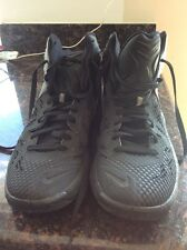 Nike Zoom Hyperfuse 2014 Basketball Shoes 684591-001 Black Size 10 WOB