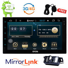 GPS Android 6.0 Quad-Core 4G WiFi Double 2Din Car Stereo NO-DVD Bluetooth+CAMERA