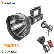380000LM P50/P70 Rechagerable LED Portable Flashlight Spotlight with Bracket
