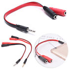 3.5mm gold male to 2dual female jack splitter headphone y audio adapter cable##