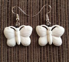 HANDMADE BUFFALO BONE BUTTERFLY EARRINGS