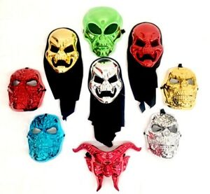 Halloween Mascarade Masques Diable Ghoul Extraterrestre Haute Brillance Chrome