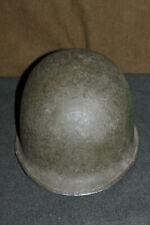 Original Late WW2/Korean War Front Seam U.S. Army M1 Helmet w/Para Straps