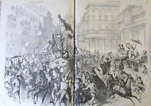 Stampa Italia Carnevale Di Milan Costumi Giornale L'Universo Illustrato 1859