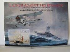 Launch Against the Bismarck RAF Swordfish Robert Taylor Aviation Art Brochure