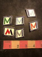 Similar (several colors) Letter I Initial M Unknown Advertising 6 Patch Lot 92NT