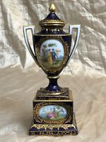 RARE ROYAL VIENNA AUSTRIAN Hand-Painted Porcelain Urn  c. 1880  antique