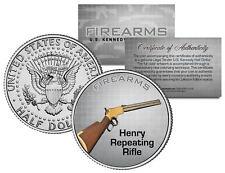 HENRY REPEATING RIFLE Gun Firearm JFK Kennedy Half Dollar US Colorized Coin