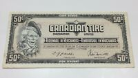 1974 Canadian Tire 50 Fifty Cents CTC-S4-E-EN Circulated Money Banknote E072