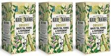 Heath And Heather Organic White Tea Fennel & Peppermint - 20 Bags (Pack of 3)