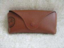 Ray Ban Brown Leather Sunglasses Eye Glasses Soft Case