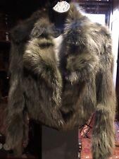 vintage Green Genuine Fox Fur Jacket