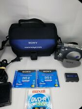 Sony Handycam DCR-DVD201 Camcorder Bundle - With Case Charger DVD-R Pack