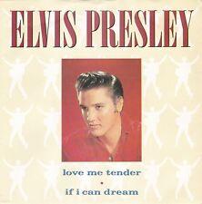 """Elvis Presley """"Love Me Tender"""" & """"If I Can Dream"""" 1987 U.K. Record & Pic Slv NM"""