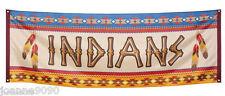 Amérindien Indiens Cowboys Flag Banner Décoration Fête D'anniversaire