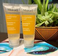 2 Murad Environmental Shield Essential C Facial Cleanser 1.5oz Travel Sz Sealed
