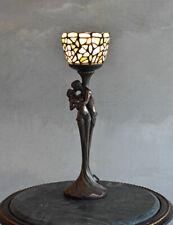 Tischlampe Skulptur Liebespaar Lampe Tiffany Leuchte Jugendstil Tischleuchte