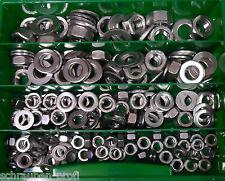 200 Teile acciaio inox scatola SCORTA DADI U DISCHI DIN 934 DIN 125 M6 - M12