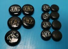 Vintage collection of 13 Cottesmore rare black Hunt Buttons hunting
