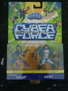SIGNED Image CYBER FORCE Mega Heroes Figure Pack Marc Silvestri Mattel Comics