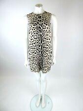 Dolce & Gabbana Leopard Print Silk Dress Size 42 UK 10 BNWT