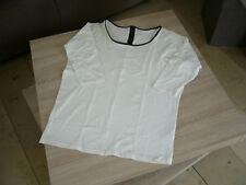 Damen - Shirt von esmara, Wollweiß, Gr. L ( 44 - 46 ), 3/4 - Arm und Reißer