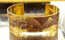 Vintage Japanese Gilded copper/brass bangle