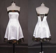 New Short Beach Camo Wedding Dresses  A-Line Camouflage Appliques Bridal Gowns