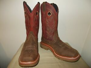Mens 9 D Square Toe Workflex Work Western Cowboy Boots New