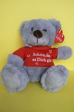 PELUCHE : TRES BEL OURS GRIS  A COLLECTIONNER OU A OFFRIR