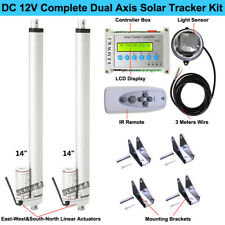 "Complete Kit Sunlight Track Dual Axis Solar Tracker-14"" Linear actuator Electric"