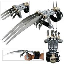 Zombie Demon Skull & Bones 3 Tri-Blade Hand Claw Knife Wolverine Skeleton/New