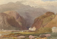 Joseph Needham (c.1810-1880) - Signed Watercolour, Highland Cottage