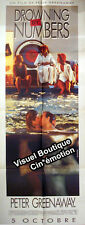 Affiche 60x160cm DROWNING BY NUMBERS 1988 Peter Greenaway - Joan Plowright NEUVE