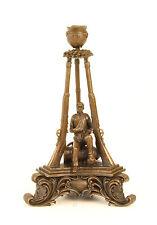 99937654-dss Bronze Figur Kerzen Leuchter Soldat Kriegsverletzter 19x19x30cm