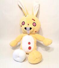 "Zombie Bunny RABBIT Plush Doll Yellow 20"" Gloomy Scarred Stash Pocket Animal"