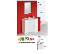 Bathroom Corner Vanity 900 x 600 Solid Doors Poly Basin