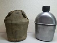 WW2 US Military 1945 Canteen and cover  WWII