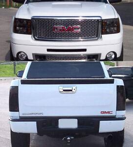 Fits 07-13 Sierra 1500 2500 3500 GTS Acrylic Smoke Headlight Taillight Covers