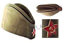 UdSSR CCCP Rote Armee Uniform - Mütze Käppi +Stern Gr. 55 (o.a.w. 54 56 57 58