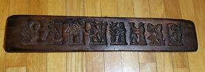"""Wood Springerle Cookie Mold Double Sided 23"""""""