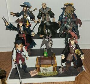 PIRATES OF THE CARIBBEAN 7 Swashbucklers Figures! Barbossa Jones Sparrow Disney!