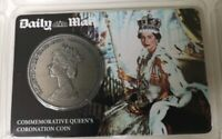 DAILY MAIL COMMEMORATIVE QUEENS CORONATION COIN SEALED IN PACKET