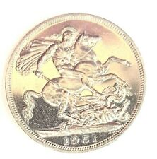 1951 GEORGE V1 CROWN FIVE SHILLINGS UNC IN CAPSULE EXCELLENT