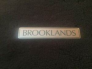 Bentley Brooklands 1993-98 Chrome Green Lettering Boot Trunk Badge UB84565 OEM